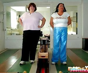 Sabrina meloni and friend showing huge boobs in bowling - part 3229