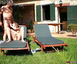 Mature hottie has sexy times outdoor - part 2702