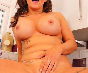 Hot british milf playing with herself in the kitchen - part 3267