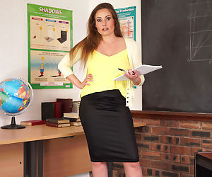 Miss delane isnt happy about being stuck in a classroom after ho - part 2467