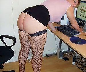Slut secretary milf daniella spreading in black stockings - part 2661