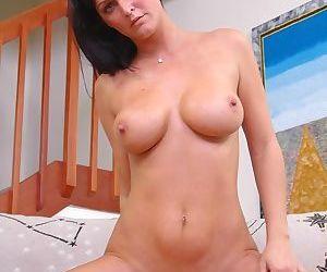 Gorgeous busty brunette fucks young stud - part 911