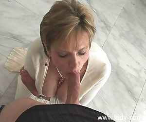 Horny mature lady in stockings gives oral sex and gets fucked ha - part 2915