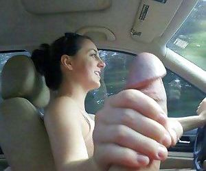 Real amateur wive sucking on beach in public - part 3012