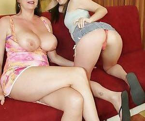 Hot mommy and her horny teenage daughter slut - part 705