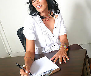 Big boobed brunette secretary milf fucks her hung black client - part 3000