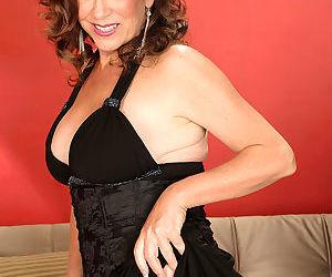Karen deville is wearing a sexy black dress that shows her cleav - part 3089