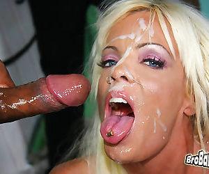 Busty blonde milf jordan blue gets bukkaked by black men - part 7