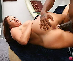 Busty mature fucks a muscular black man to complete satisfaction - part 4