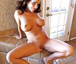 Glamorous brunette anilos plays with her delicate pink milf pussy by the jacuzzi - part 14