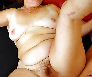 See a skinny chap get on top of an old plump slut - part 18