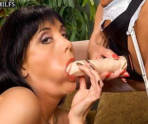 Older woman and her lesbian lover pleasure each other - part 9
