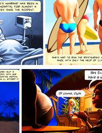 Adult comic of hot big tit bikini milf working a new summer job - part 2198