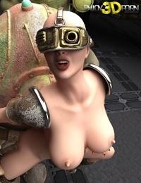 Beautiful dystopian girl wants to fuck her robot - part 6