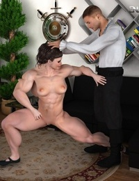 Muscle woman loves to suck cock - part 13