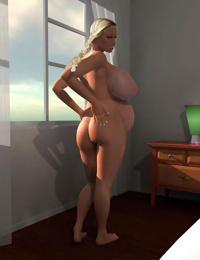 Pregnant 3d blonde chick exposing her big boobs - part 395