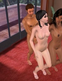 3d animated threesome ending with a nice facial - part 266