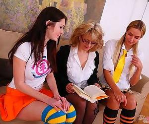 Teen kattie gold and her girlfriend seduced by mature lesbian - part 4735