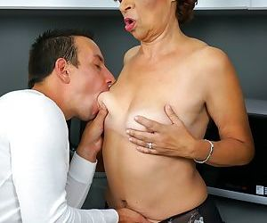 Lusty grandma donatella is back with her young friend - part 2614