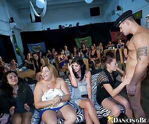 Slutty girls choking on stripper cock - part 4196