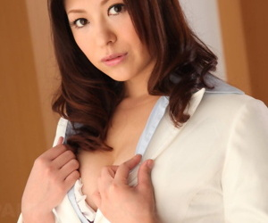 Lovely Japanese MILF in sexy bra Jun Sena gets taken by her lover from behind