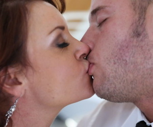 Big boobed redhead girl Janet Mason gets her pussy licked and fucked properly
