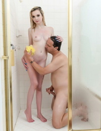 Wet girl Lexi Lore finds herself being fucked while taking a shower
