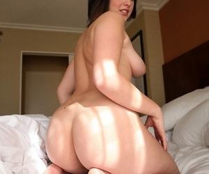 Chubby young brunette Brooke Adams flaunts natural tits & fuckable big ass