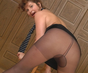 Naughty mature secretary showing her panties and then some - part 2503