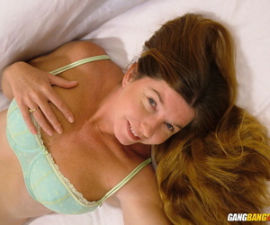 Cute amateur Dee Delmar sucks dildo & stuffs her horny pussy in sexy panties