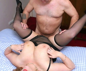 Mature amateur with nice tits Curvy Claire gets banged missionary style
