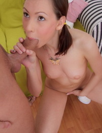 Pigtails moira gives oral sex and gets sweet pink pussy nailed d - part 4711