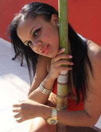 toticos exotic dominican girl naked by the pool - part 4621