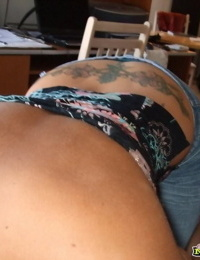Girlfriend with tatoos filmed sucking cock on camera - part 4312