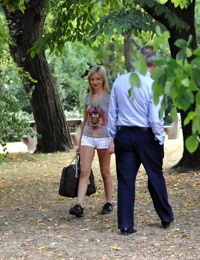 Fragile teen Sasha picked up by mannerly gentleman who offered her a casting