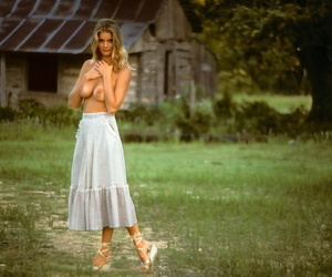 Late 70s model with big breasts Janet Quist poses for the adult magazine