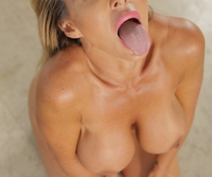 Fit MILF Aubrey Black strips her tight blue jeans off and swallows a BBC