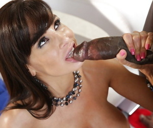 Awesome interracial sex with amazing beauty brunette Lisa Ann