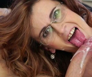 Dirty old woman Mayna May blows young mans dong- gets fucked and jizzed
