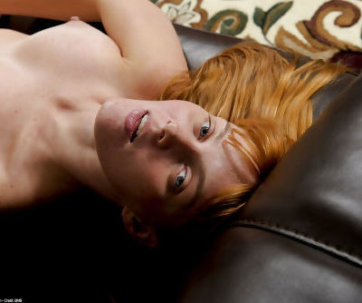 Kinky redhead with big tits Marie McCray welcomes a big dick in hairy pussy