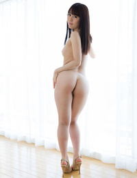 Nude Japanese shrieking get together and hump each other on motel couch