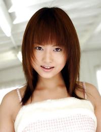 Foxy asian teenage honey Akiho Yoshizawa revealing her enticing figure