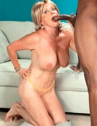 Granny Lexi McCain gets her mature vagina eaten out and ravaged by a ebony man