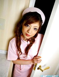 Naughty japan nurse yume imano in pinkish uniform - part 4453