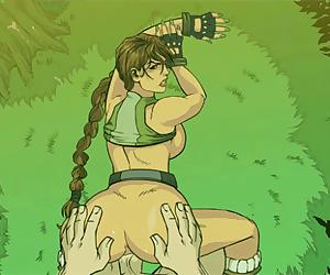 Tomb Raider deep anal invasion creampie