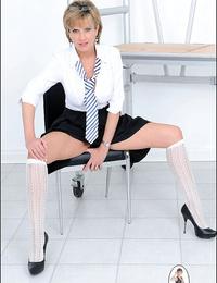 Lady sonia in a school lady uniform - part 2588