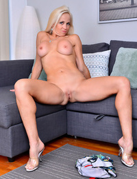 Mature sexy blond alone on the bed - part 1963