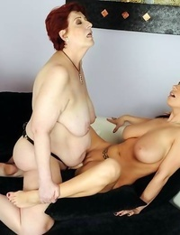 Old sapphic grandma is having hook-up with a young dickblowers - part 4893