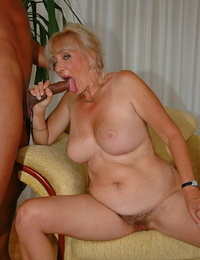 Obscene European granny named Ludmilla gets nailed by a black hunk