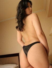 Japanese girl Chinami unleashes her hard knockers from sensuous lingerie